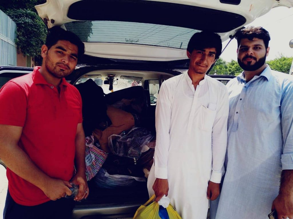 Our Volunteers with the collected donations for #Educationforall.
