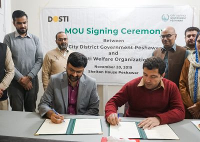 MOU With City District Govt. Peshawar