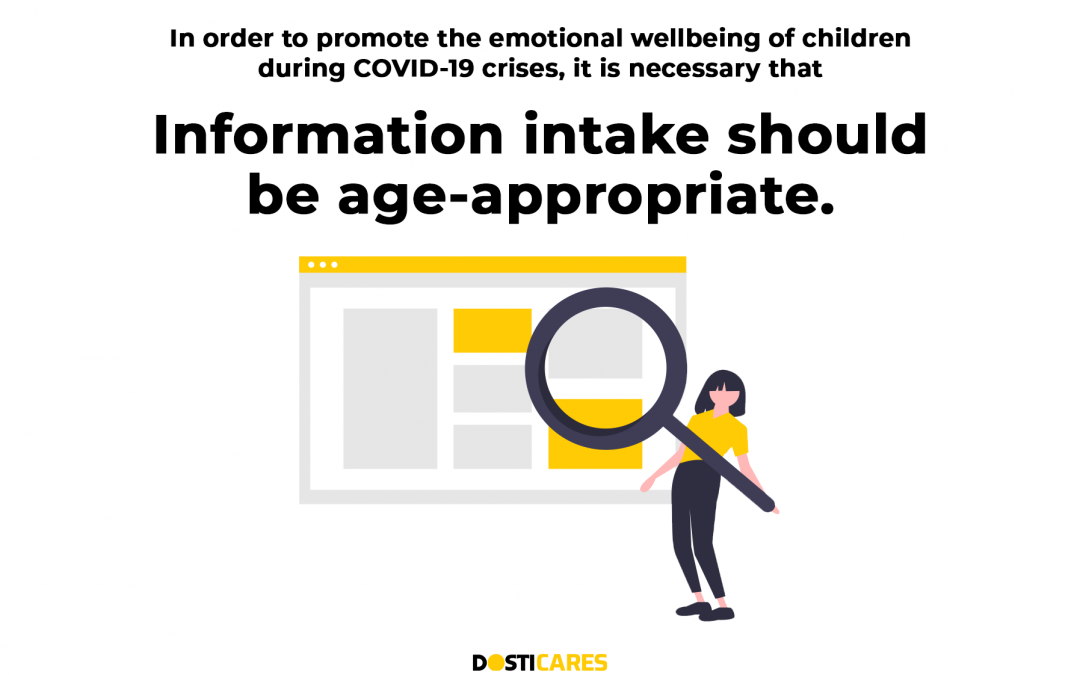Information intake should be age-appropriate